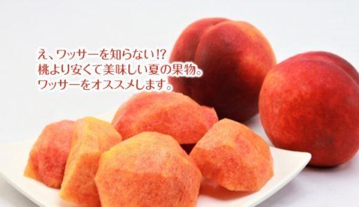 え、ワッサーを知らない!?桃より安くて美味しい夏の果物。ワッサーをオススメします。